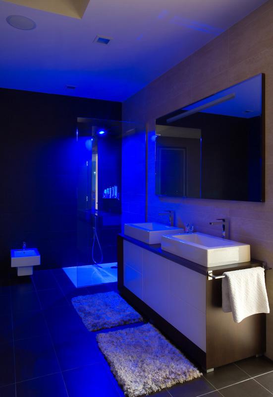 Mood Lighting In A Modern Bathroom
